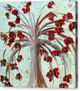 Winterblooms Acrylic Print by Ayasha Loya