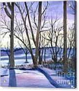 Winter's Eve Acrylic Print