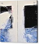Winters Here - Then Diptych Acrylic Print