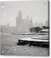 Wintery Chicago Acrylic Print