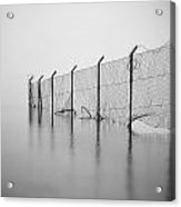 Wire Mesh Fence Acrylic Print