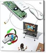 Wireless Home Video Game System Acrylic Print by Jose Antonio PeÑas