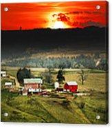 Wisconsin Farm Acrylic Print