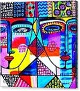 Wisdom Fractal Goddesses Acrylic Print