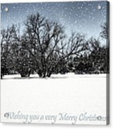 Wishing You A Very Merry Christmas Acrylic Print