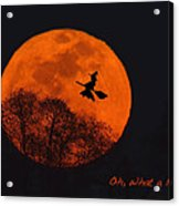 Witchy Moon Acrylic Print