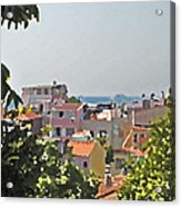 With A Seaview Acrylic Print