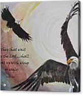 ...with Wings As Eagles Acrylic Print