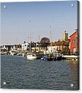 Wivenhoe Waterfront Panorama Acrylic Print