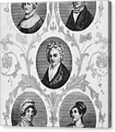 Wives Of Founding Fathers Acrylic Print by Granger