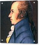Wolfgang Amadeus Mozart Acrylic Print by Granger