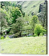 Wolfscote Dale From Gipsy Bank Acrylic Print