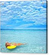 Woman And Ocean Acrylic Print