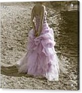 Woman At The Beach Acrylic Print