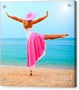 Woman Dancing Acrylic Print