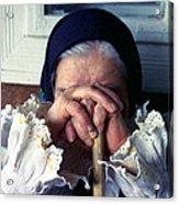 Woman From Maramures Romania Acrylic Print