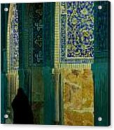 Woman In Mosque Acrylic Print