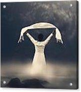 Woman In Water Acrylic Print