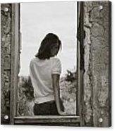 Woman In Window Acrylic Print