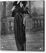 Woman Modeling Dress, A Frock Of Moon Acrylic Print