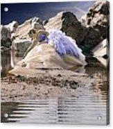 Woman On A Rock Acrylic Print