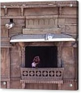 Woman On The Balcony Acrylic Print