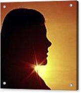 Woman Silhouette Acrylic Print