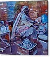 Woman Tea Acrylic Print