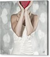 Woman With Heart Acrylic Print