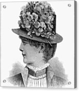 Womans Hat, 1883 Acrylic Print