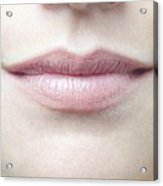 Woman's Mouth Acrylic Print by