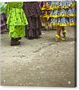 Women And Flamenco Dresses Acrylic Print