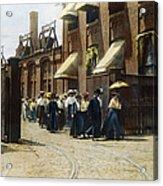 Women Leaving Work, 1895 Acrylic Print