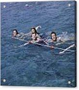 Women Swim In A Municipal Swimming Pool Acrylic Print by B. Anthony Stewart