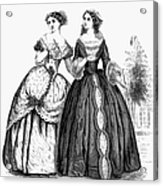 Womens Fashion, 1851 Acrylic Print