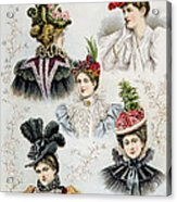 Womens Hat Designs For April, 1897 Acrylic Print