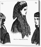 Womens Hats, 1868 Acrylic Print