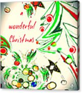Wonderful Christmas Acrylic Print
