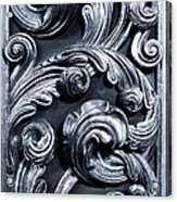 Wood Carving Patterns Acrylic Print
