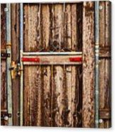 Wood Fence Door Acrylic Print
