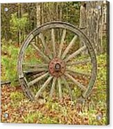 Wood Spoked Wheel Acrylic Print