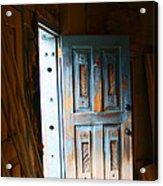 Wood Workers Door In Truchas New Mexico Acrylic Print