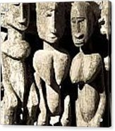 Wooden African Figures Acrylic Print