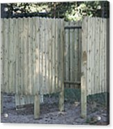 Wooden Beach Dressing Rooms Acrylic Print by Jaak Nilson