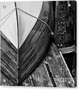 Wooden Boat On The Dock Acrylic Print