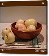 Wooden Bowl With Apples-i Acrylic Print