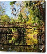 Wooden Bridge Over The Hillsborough River Acrylic Print