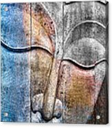 Wooden Buddha Acrylic Print