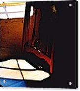 Wooden Chair In Light Acrylic Print