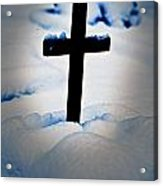 Wooden Cross Acrylic Print by Joana Kruse